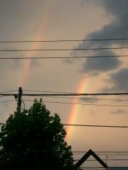 虹を見ました。(しかも2本)