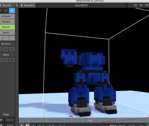 ボクセルでロボット作成