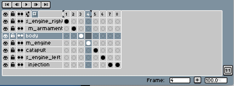 【KUS0ゲー】(開発日誌03)Asepriteでパーツ毎にファイルを出力