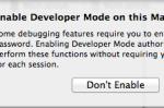 【Xcodeメモ】(004)初めてiOSシミュレータを起動するさいは、Macを開発モードにする。
