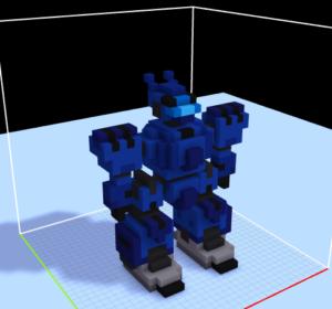 ボクセルでロボット作成その2