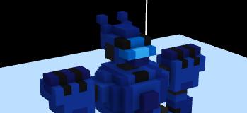 【MagicaVoxel】(001)MagicaVoxelでロボット描いてみた