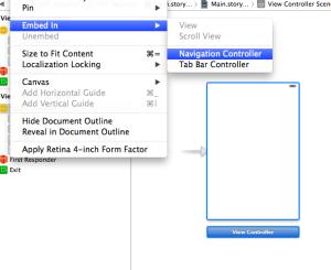 【Xcodeメモ】(007)Navigation Barの追加方法