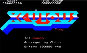 mz-700版ゼビウス(xevious)